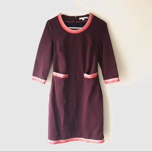 Boden Mod Pink Red Tunic Dress Size 8 Color Block